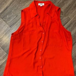 EXPRESS RED SLEEVELESS PORTOFINO SHIRT